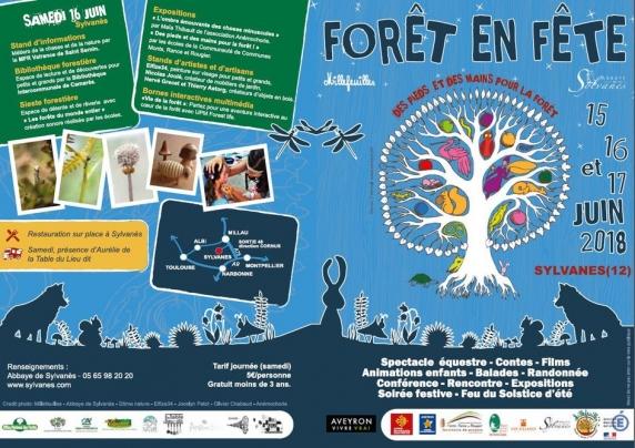 affiche forêt en fête