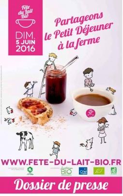 affiche fête du lait bio
