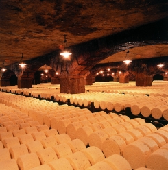 photo of the Roquefort Company cheese caves