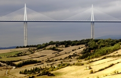 Aerial view of the Millau Viaduct