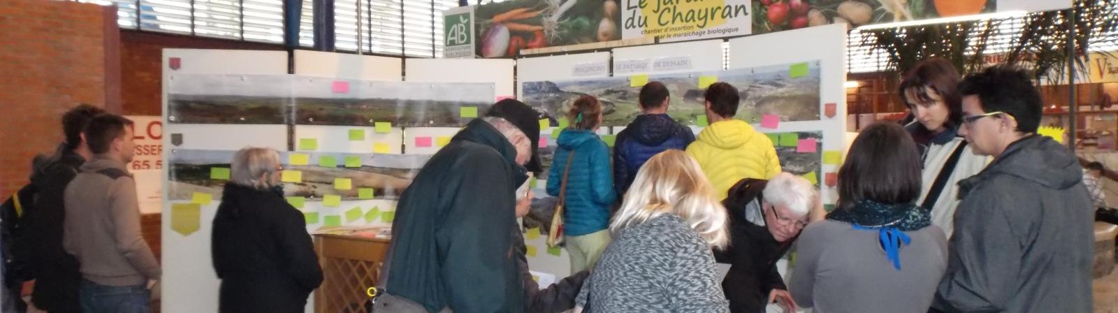 conertation paysage marché millau