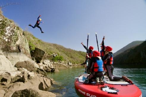 Paddle et sauts