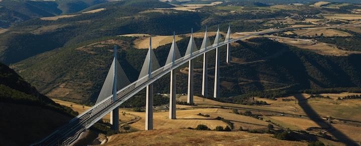Photo del viaduc de Milhau
