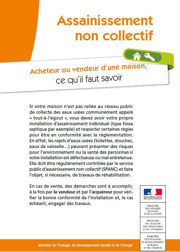 étiquette brochure vente SPANC